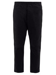 Barena Venezia Arenga Dropped Seat Cotton Blend Twill Trousers Black