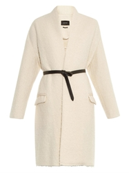 Isabel Marant Seal Teddy Wool Blend Cocoon Coat