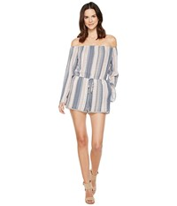 Brigitte Bailey Elfi Off The Shoulder Romper Blue Women's Jumpsuit And Rompers One Piece