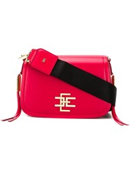 Elisabetta Franchi Square Shaped Crossbody Bag Red