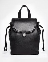 Whistles Leather Astor Backpack Black