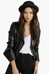 Boohoo Jenni Derby Hat Black