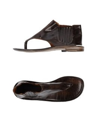 Preventi Thong Sandals Dark Brown