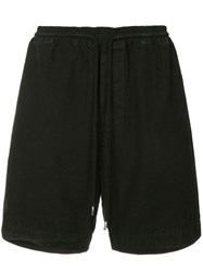 Bassike Washed Drill Shorts Black
