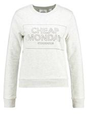 Cheap Monday Win Thin Box Sweatshirt Light Melange Light Grey