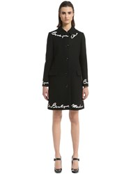 Boutique Moschino Chic Wool Felt Coat