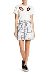 Opening Ceremony Komondor Jacquard Zip Mini Skirt Black