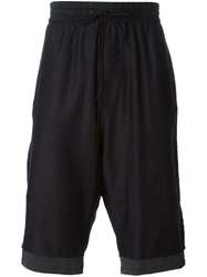 3.1 Phillip Lim Dropped Crotch Track Shorts Blue