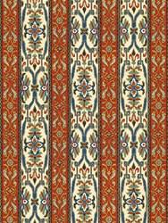 House Of Hackney Mamounia Henna And Ecru Wallpaper Orange Beige