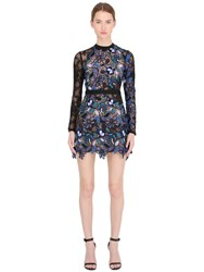 Self Portrait Celeste Patchwork Lace Dress For Lvr