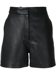 H Beauty And Youth Concealed Fastening Shorts Women Leather M Black