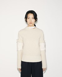 Sacai Lamb Wool Pullover Off White