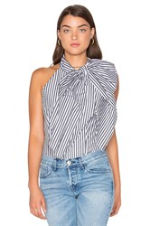 Milly Bow Blouse Black And White