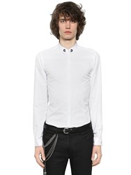 The Kooples Skull Embroidered Cotton Poplin Shirt