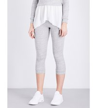 Pepper And Mayne Signature Cotton Jersey Jogging Bottoms Grey Lurex