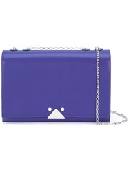 Emporio Armani Flap Shoulder Bag Pink Purple