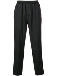 Paura Sporty Tapered Trousers Black