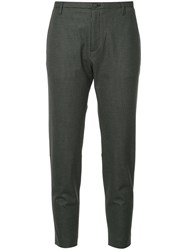 Hope Krissy Checked Trousers Polyester Spandex Elastane Viscose Grey