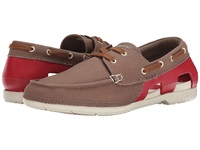 Crocs Beach Line Lace Up Boat Walnut Stucco Men's Lace Up Casual Shoes Brown