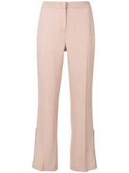 N 21 No21 Ruffle Detail Cropped Trousers Pink And Purple