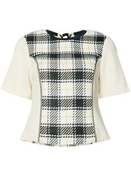 3.1 Phillip Lim Plaid Knitted Top Black