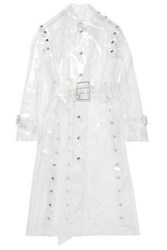 Thierry Mugler Woman Vinyl Trench Coat Neutral