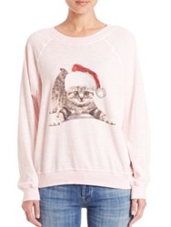 Wildfox Couture Meowy Christmas Sweatshirt