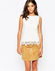 Warehouse Lace Shell Top Cream