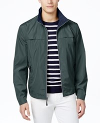 London Fog Men's Packable Stand Collar Jacket Teal