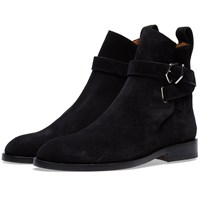Acne Studios Julian Suede Buckle Ankle Boot Black