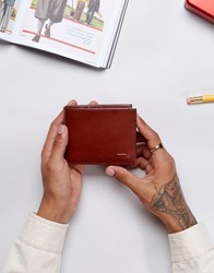 Levi's Leather Wallet In Brown Brown Black
