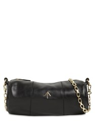 Manu Atelier Cylinder Leather Shoulder Bag Black