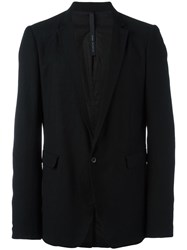 Poeme Bohemien One Button Blazer Black