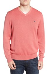 Vineyard Vines Cotton And Cashmere V Neck Sweater Jetty Red