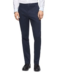 Calvin Klein Stretch Cotton Tapered Pants Dress Blue
