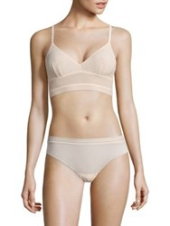 Cosabella Laced In Aire Long Bralette Nude Rose Black