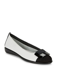 The Flexx Rise N Curry Leather Flats White Black