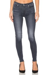 7 For All Mankind The Contour Skinny Cobblestone Grey