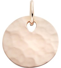 Monica Vinader Ziggy 18Ct Rose Gold Plated Vermeil Round Pendant