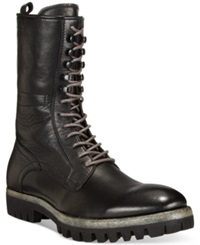 Kenneth Cole Fall Fever High Lug Sole Boots Men's Shoes Black