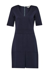 Great Plains Polly Ponte Utility Dress Blue