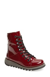 Fly London Same Lace Up Boot Burgundy