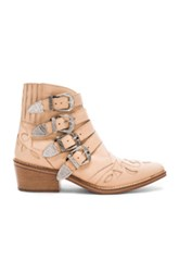 Toga Pulla Leather Booties In Neutrals