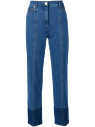 Valentino Two Tone Jeans Blue