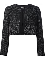 Paule Ka Woven Cropped Jacket Black