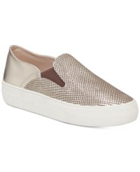 Vince Camuto Kyah Slip On Flatform Sneakers Women's Shoes Light Gold