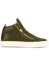 Giuseppe Zanotti Design Kriss Mid Top Sneakers Green