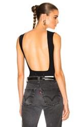 Maison Martin Margiela Technical Stretch Jersey Backless Bodysuit In Black