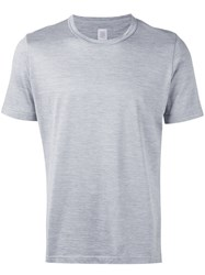 Eleventy Classic Crewneck T Shirt Men Silk Cotton L Grey