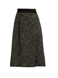Marc Jacobs Boucle Tweed Wool Blend Skirt Black Multi